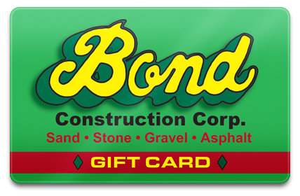 Bond Construction Physical Gift Card